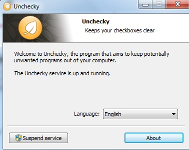 Unchecky-interface